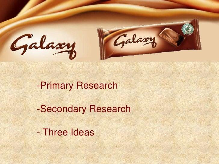 Galaxy Chocolate Presentation