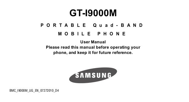 Samsung Galaxy S User Manual