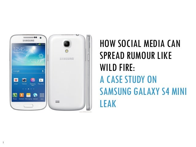 Social Media Research on Galaxy s4 mini leaked story