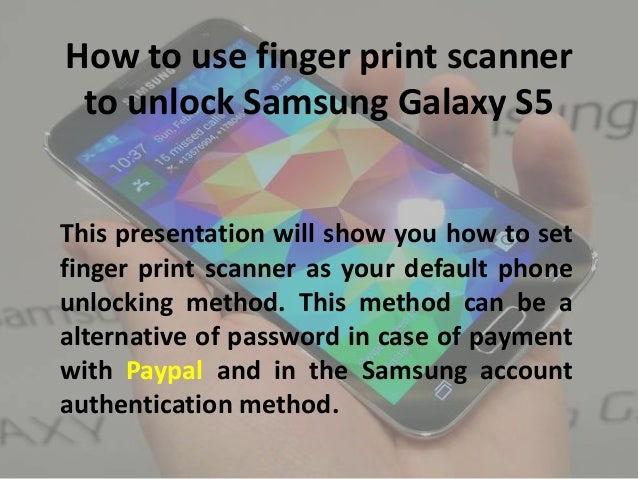 How to Use Samsung Galaxy S5