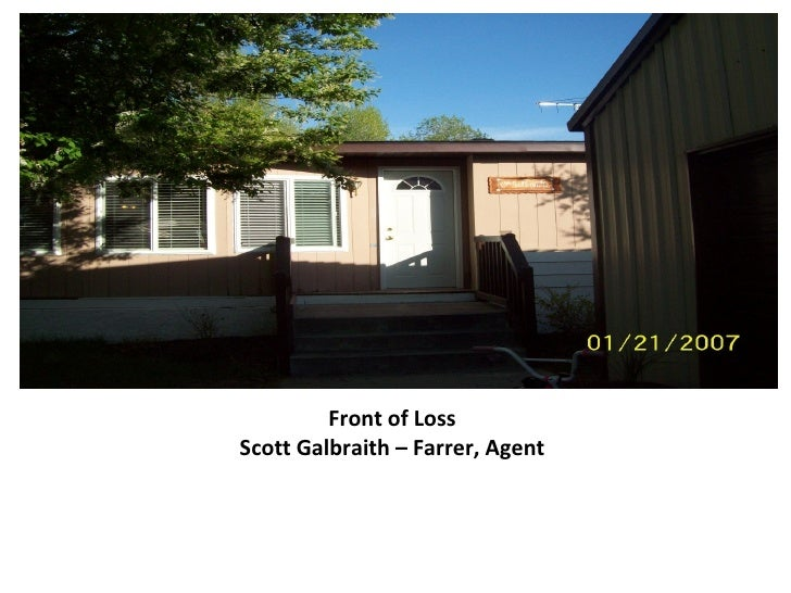 Front of LossScott Galbraith – Farrer, Agent