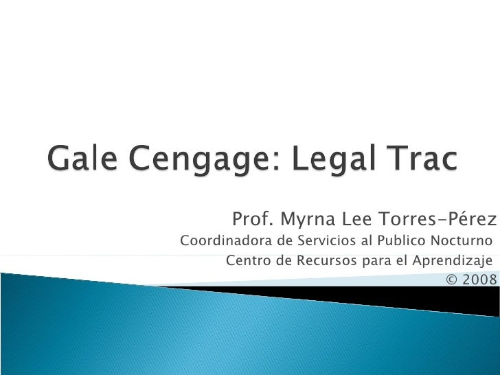 Gale Cengage - Legal Trac