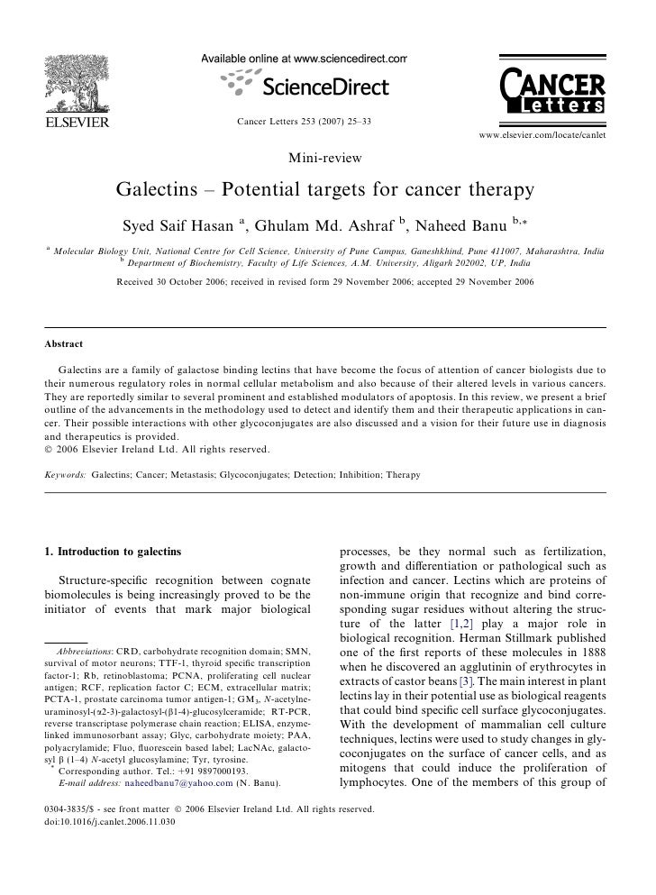Cancer Letters 253 (2007) 25–33                                                                                           ...