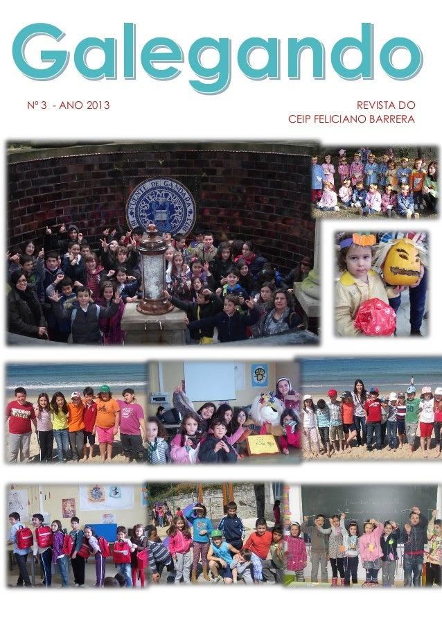 Nº 3 - ANO 2013 REVISTA DO CEIP FELICIANO BARRERA