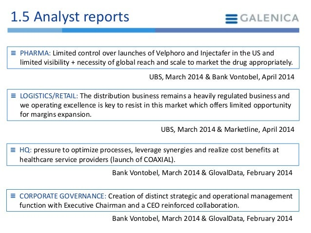 Galenica corporate strategy analysis