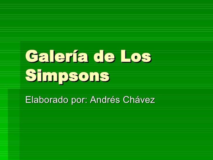 GaleríA De Los Simpsons