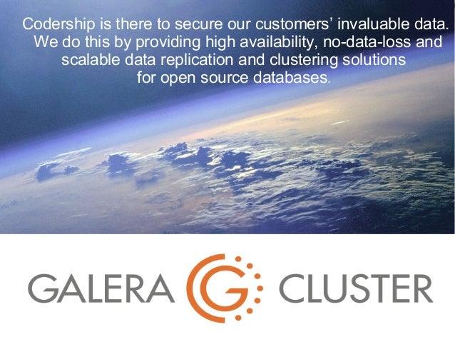 Galera cluster - SkySQL Paris Meetup 17.12.2013