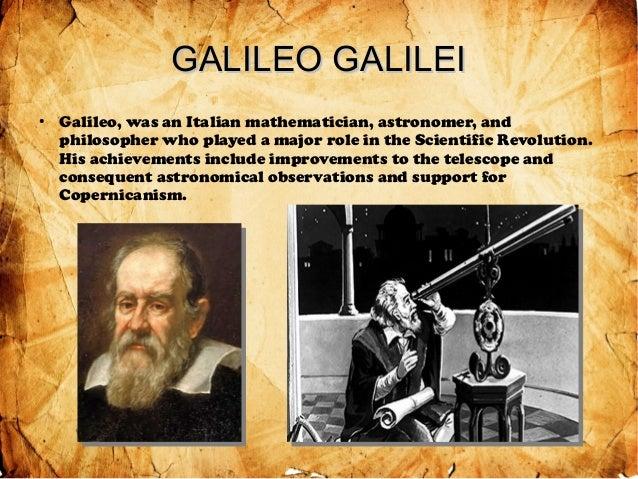 an introduction to the life of galileo galilei a mathematician Galilei, galileo 1 dates born: pisa, 15 but did not pursue the clerical life galileo galilei e lo studio di padova, 2 vols.