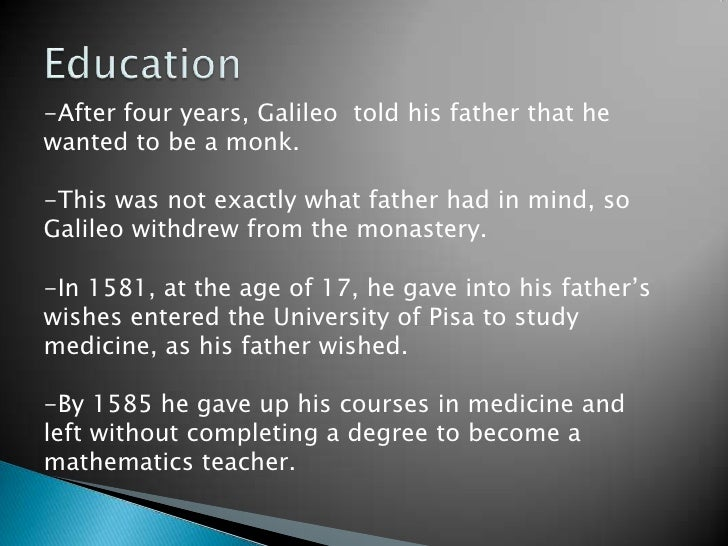 the early life and times of galileo galilei The life and times of a giant of intellectual and scientific history, as told through  six rare  galileo galilei was born in pisa in 1564, and became a professor of.