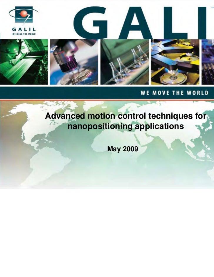 Galil  medical nanotechnology presentation may 2009