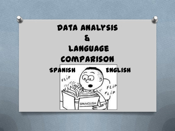 Data Analysis        &     Language   ComparisonSpanish     English