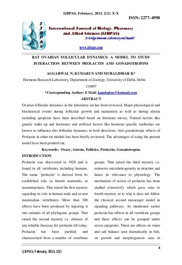 IJBPAS, February, 2013, 2(2): X-X                                                                          ISSN: 2277–4998...