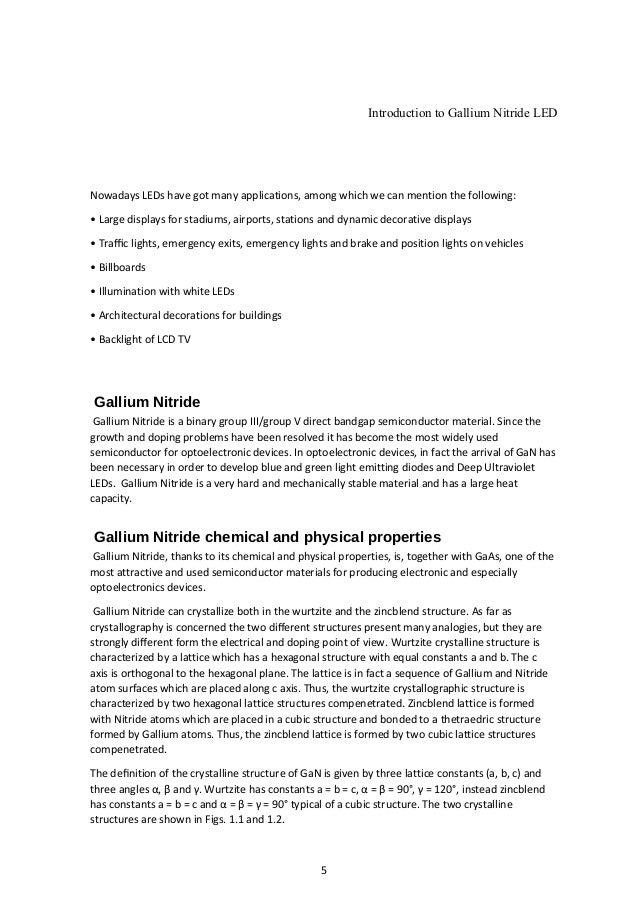 Gallium Nitride Led to Gallium Nitride