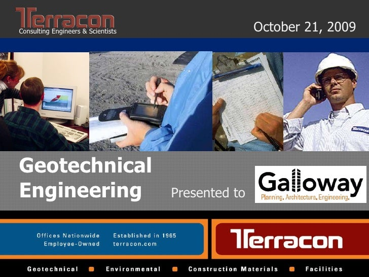 General Geotechnical Presentation