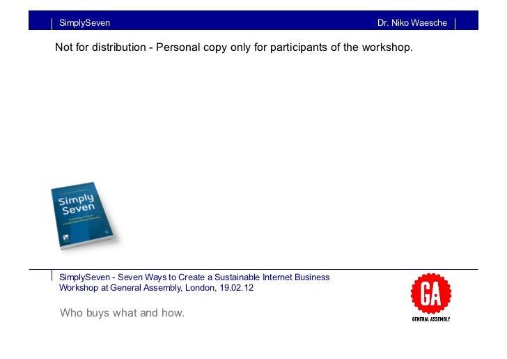 SimplySeven                                                          Dr. Niko WaescheNot for distribution - Personal copy ...