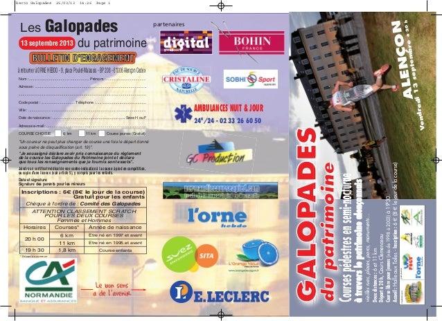Galopades du patrimoine d'Alençon 2013