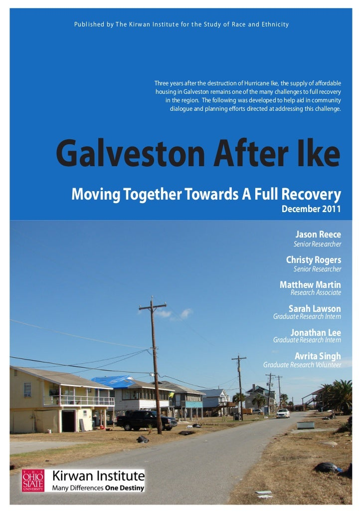 Galveston After Ike: Moving Together Towards A Full Recovery