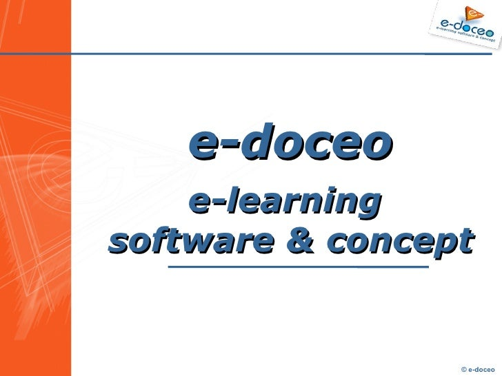 E-learning software & concept