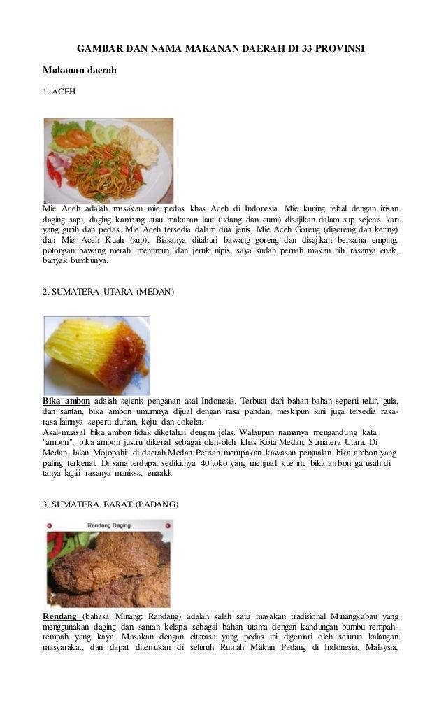 Gambar Makanan Daerah Dan Provinsi Nya | Black Hairstyle and Haircuts