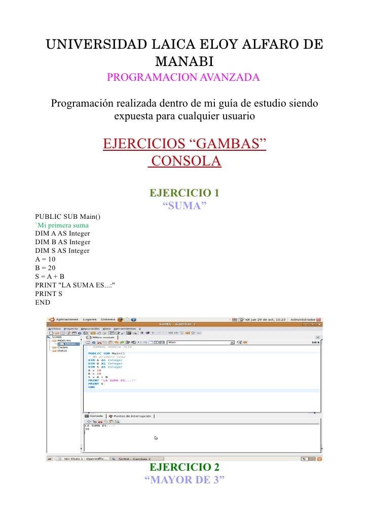 UNIVERSIDADLAICAELOYALFARODE               MANABI                    PROGRAMACION AVANZADA      Programación realizad...