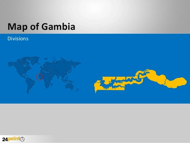 Gambia Map - Fast and Easy to Edit PowerPoint