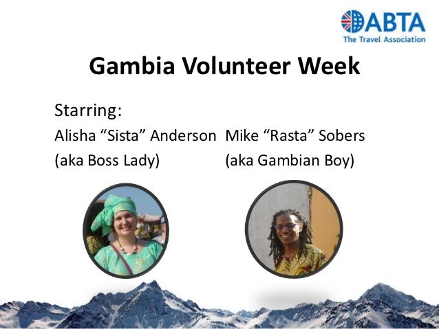 A week in The Gambia by ABTA volunteers Mike and Alisha