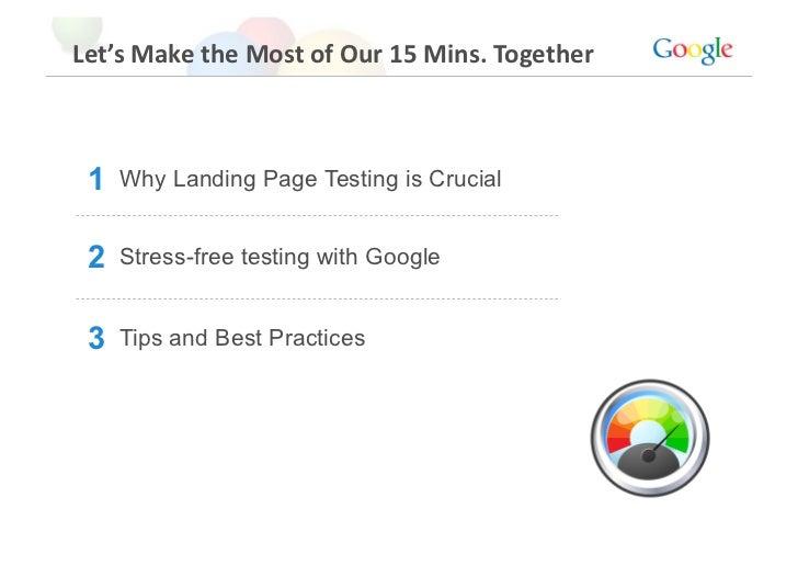 Gamc2010   08 - better landing pages with google website optimiser - jon stona - google
