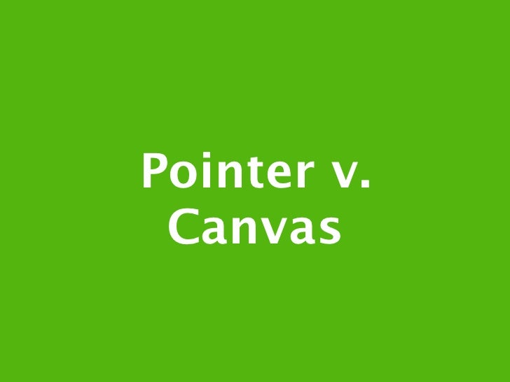 Pointer Events in Canvas