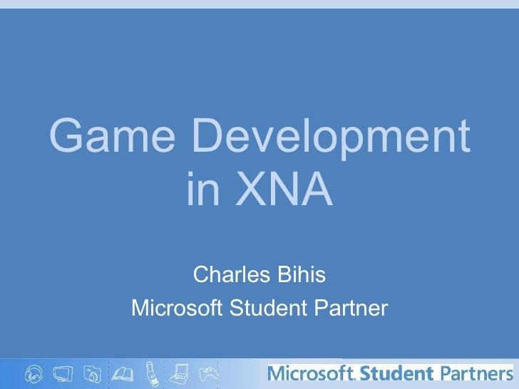 Game Development and Microsoft XNA (part II)