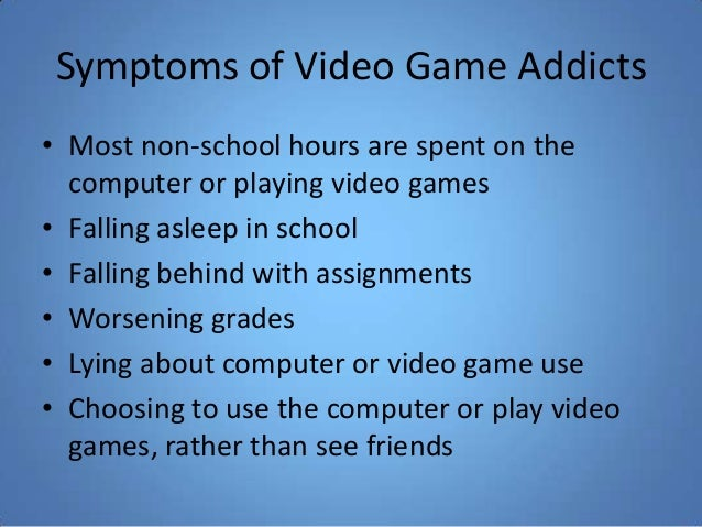 computer video games addiction I wrote a contra costa times piece earlier this year on the topic of video game addiction he also likes playing video games on the computer.