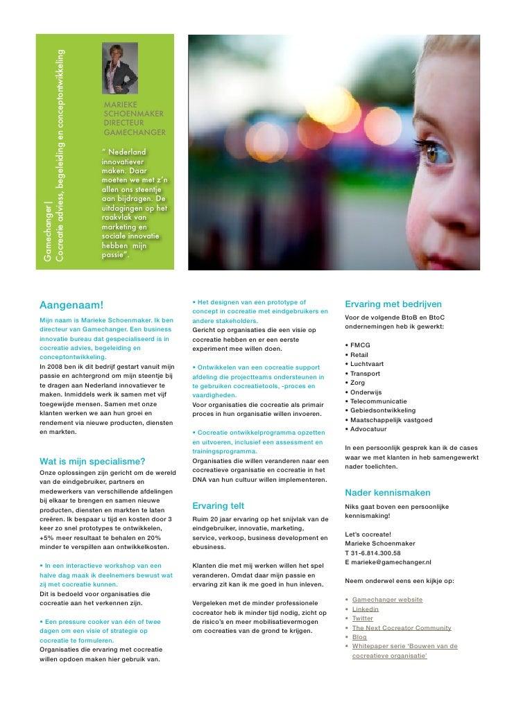 Cocreatie adviess, begeleiding en conceptontwikkeling                                                        MARIEKE      ...