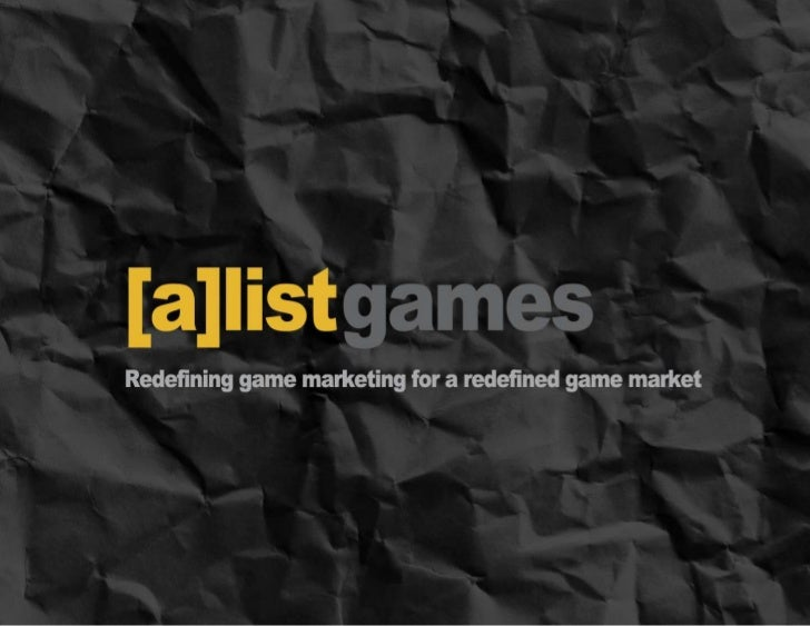 "How to market Digital GamesWhat we will cover• The shift in game marketing from games as a ""product"" to  games as a ""servi..."
