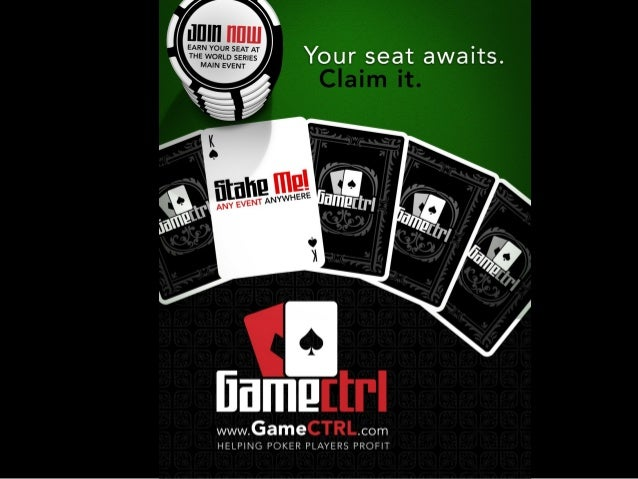 www.GameCTRL.com Play any tournament anywhere without risking your own money Make money just getting there!
