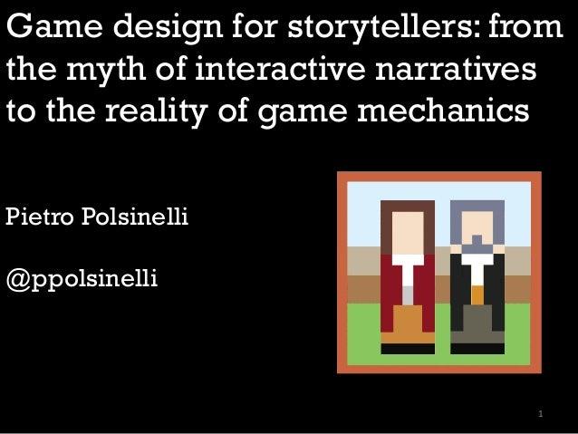Game Design for Storytellers