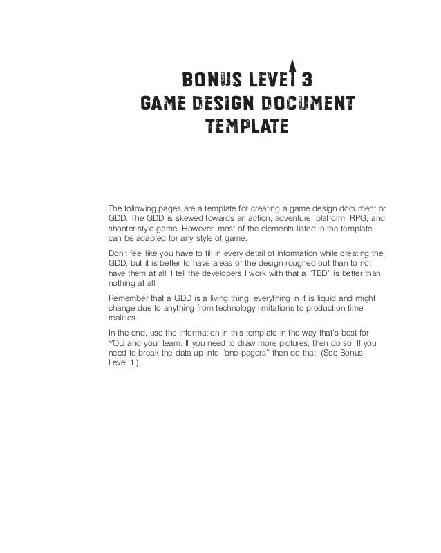 Game design doc   template