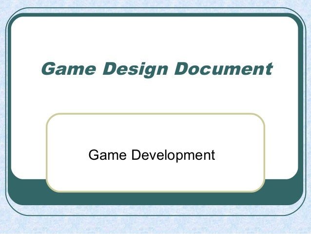 Game design for beginners