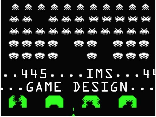 Game Design, October 15th, 2013