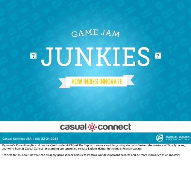 Game Jam Junkies - Casual Connect SF