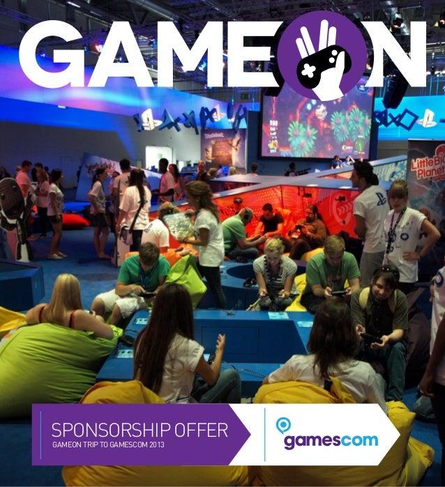 Gameon gamescom sponsorship