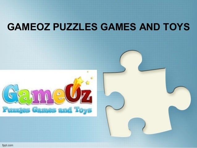 GAMEOZ PUZZLES GAMES AND TOYS