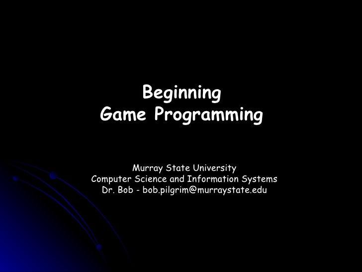 Game programming workshop