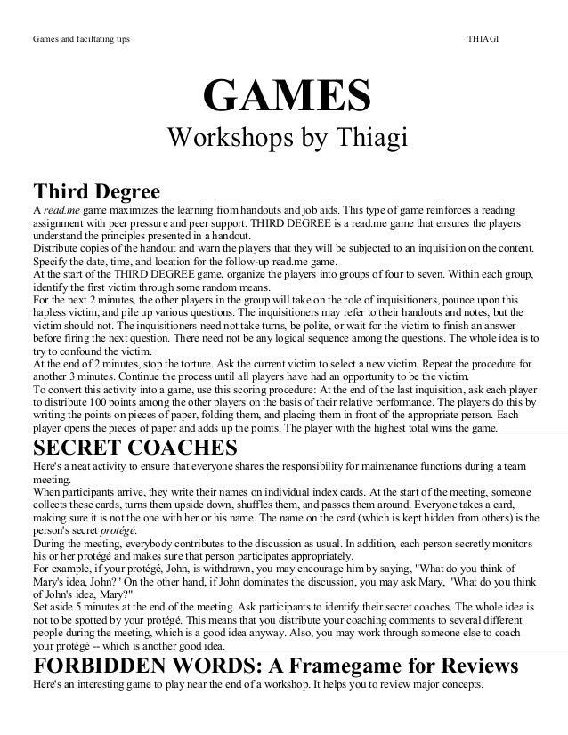 Games thiagi