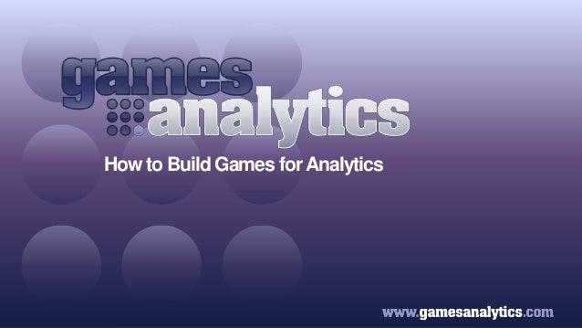 Games Industry Analytics Forum 2 - GamesAnalytics