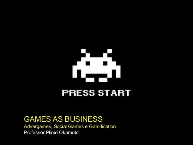 GAMES AS BUSINESSAdvergames, Social Games e GamificationProfessor Plinio Okamoto