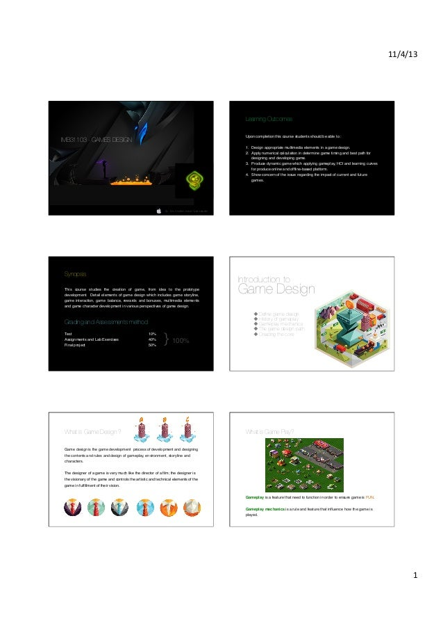 Games design notes