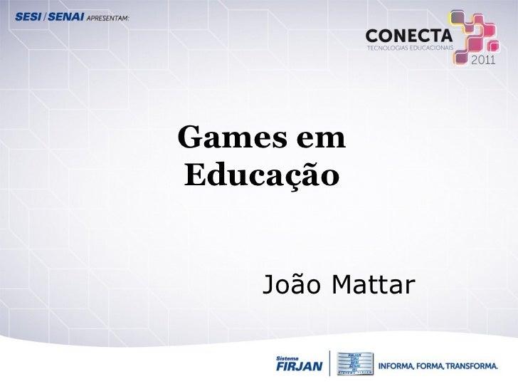 Games em educação