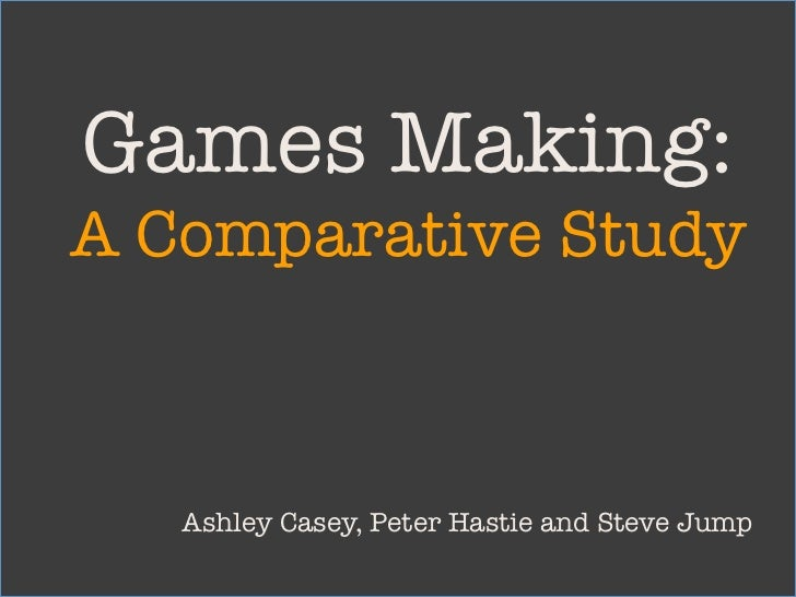 A comparison between the old and the new using student-designed games