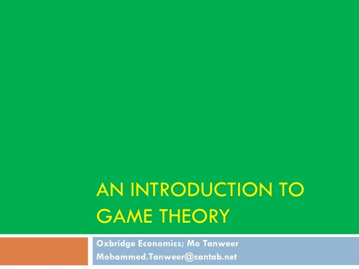 Game Theory - An Introduction (2009)