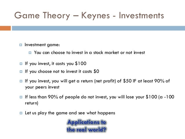 Option trading game theory