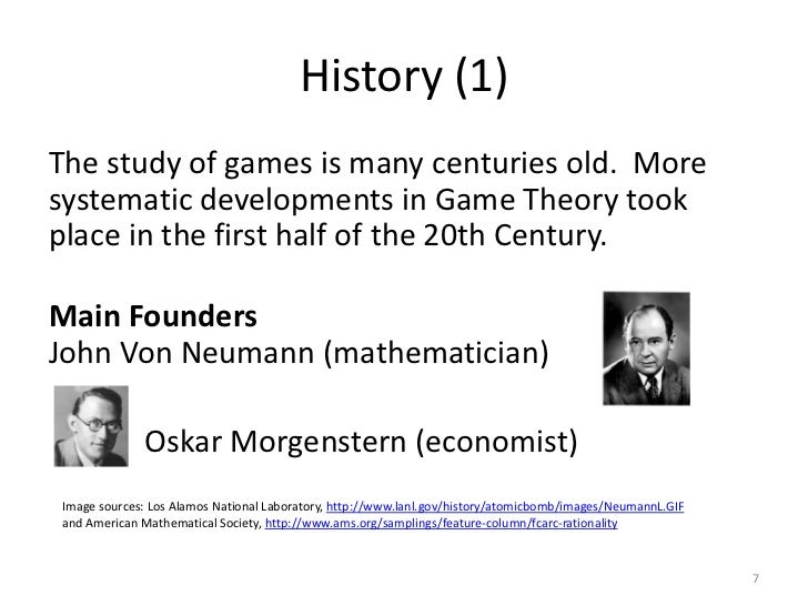 What can i say about game theory and mathematics?